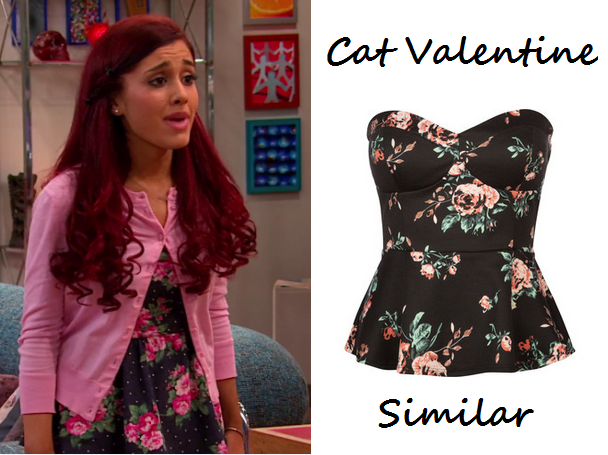 Cat Valentine Wear This Pins And Needles Strapless Elastic