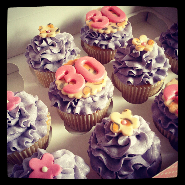 Leopard Print 30th Birthday Cupcakes