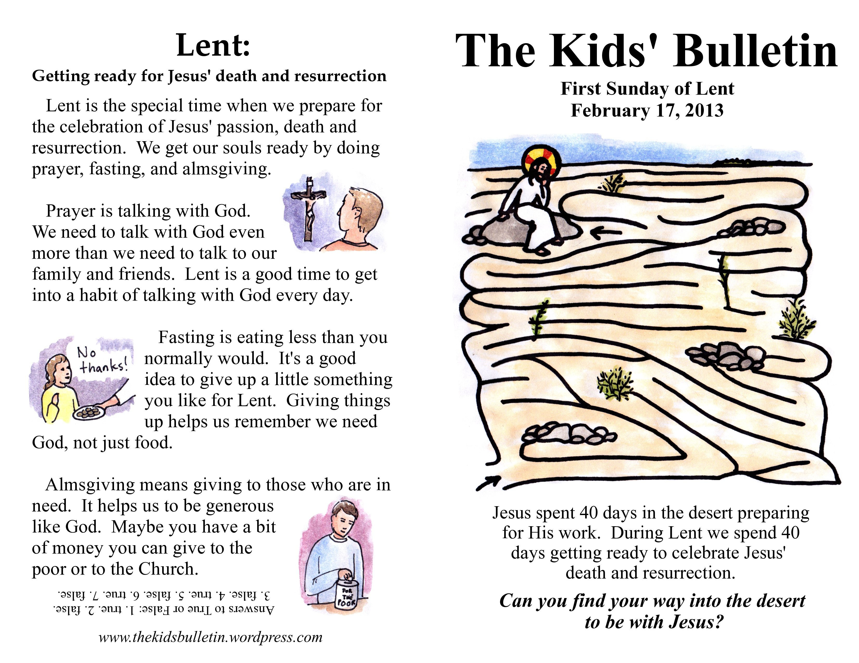 Catholic Lent Bulletin Boards
