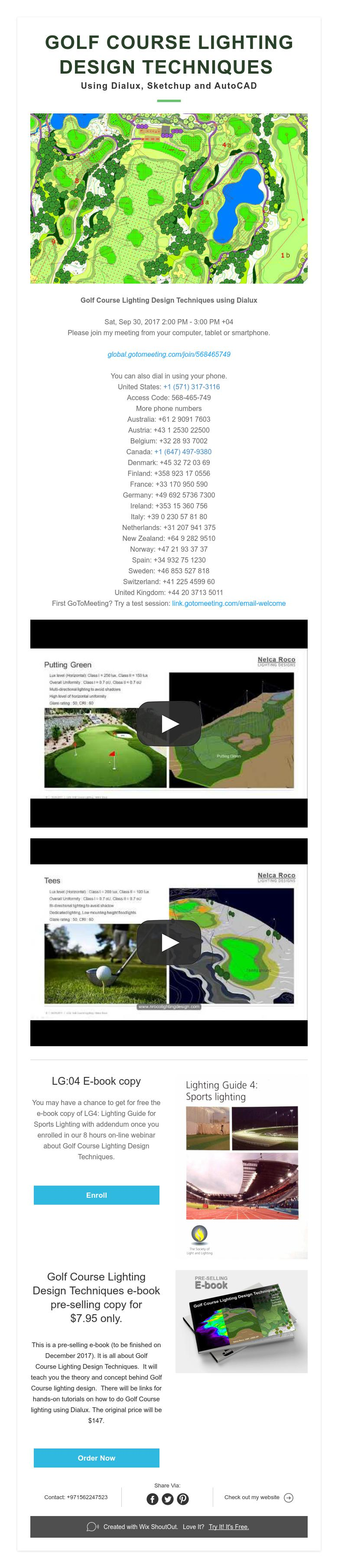 GOLF COURSE LIGHTING DESIGN TECHNIQUES Using Dialux ...