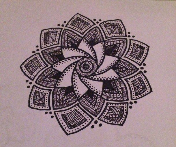Art black black and white doodle doodles doodling drawing · draw flowerspen