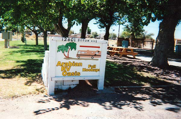 Arabian RV Oasis Passport America Camping & RV Club
