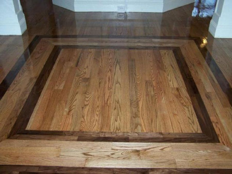 Elegant Hardwood Floor Design Ideas With Border Patterns Wood