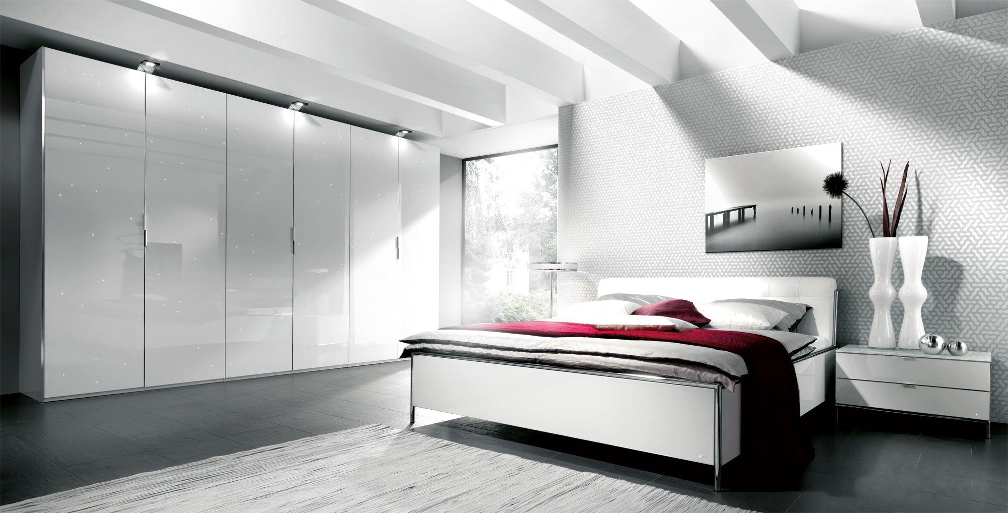 Genial Schlafzimmer Komplett Hochglanz Weiss Schlafzimmer