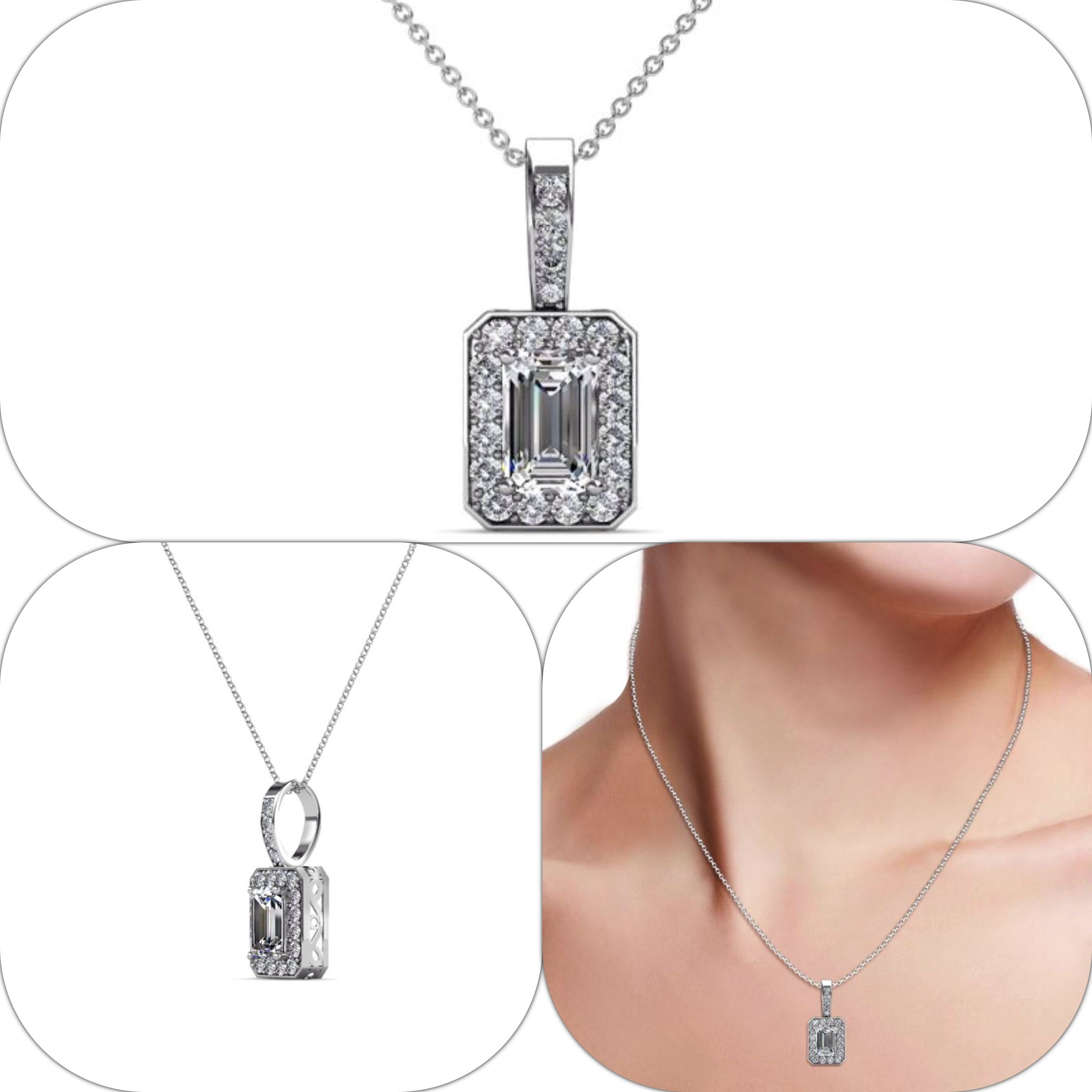 Diamond Si2 I1 G H Halo Pendant 0 75 Carat Tw In 14k Gold Jp 80674 Ebay Halo Pendant Halo Necklace Pendant