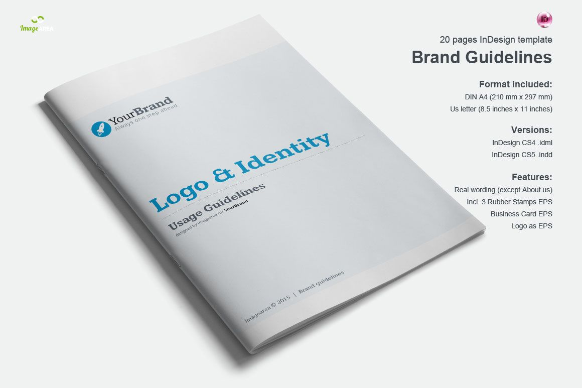 Brand Guidelines 20 Pages by Imagearea on Creative Market | Ideas ...