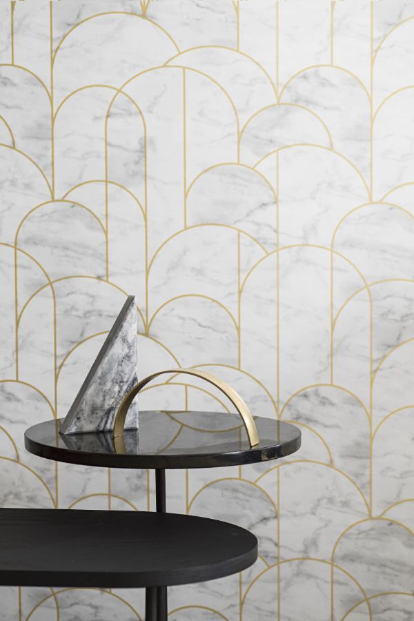 Arch by Engblad & Co - Grey and White - Wallpaper ...