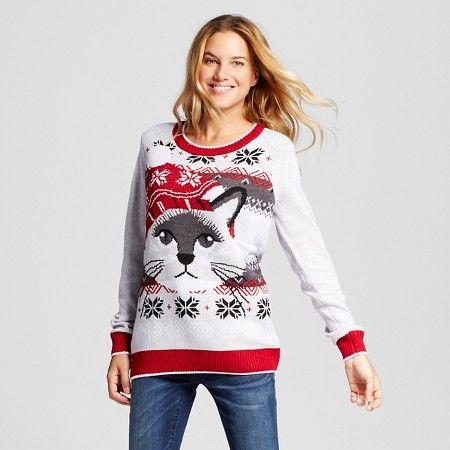 845eb8eab610 Women s Ugly Christmas Fairisle Cat Pullover - Ugly Christmas Sweater    Target