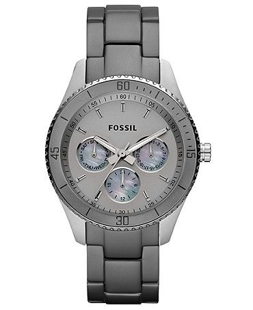 gray fossil watch