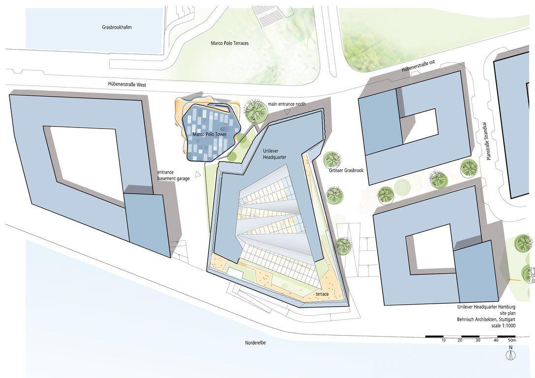 Superb Unilever Haus Hamburg   Site Plan