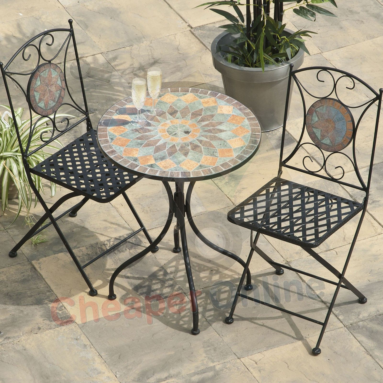 metal patio furniture mosaic Google Search Garden