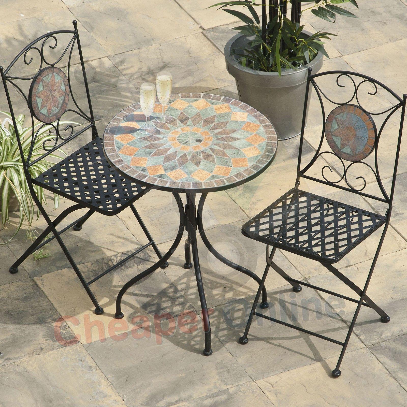 Metal Patio Furniture Mosaic Google Search Bistro Set Mosaic