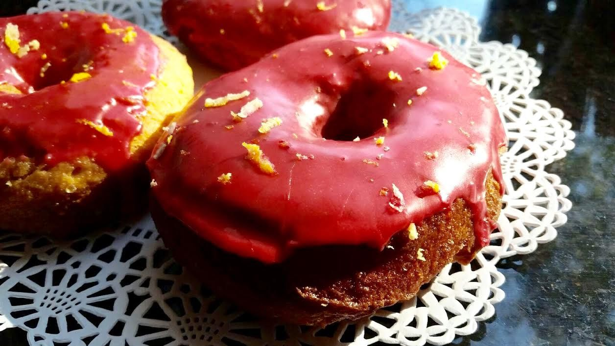July 11, 2015: SANGRIA #vegan #doughnuts, made using our own house-made Sangria in the glaze!