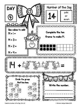 Number of the Day (Valentine *FREEBIE* Numbers 11-20} Kindergarten ...
