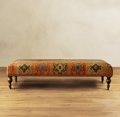 Remarkable Although Technically An Ottoman This Amazing Kilim From Andrewgaddart Wooden Chair Designs For Living Room Andrewgaddartcom