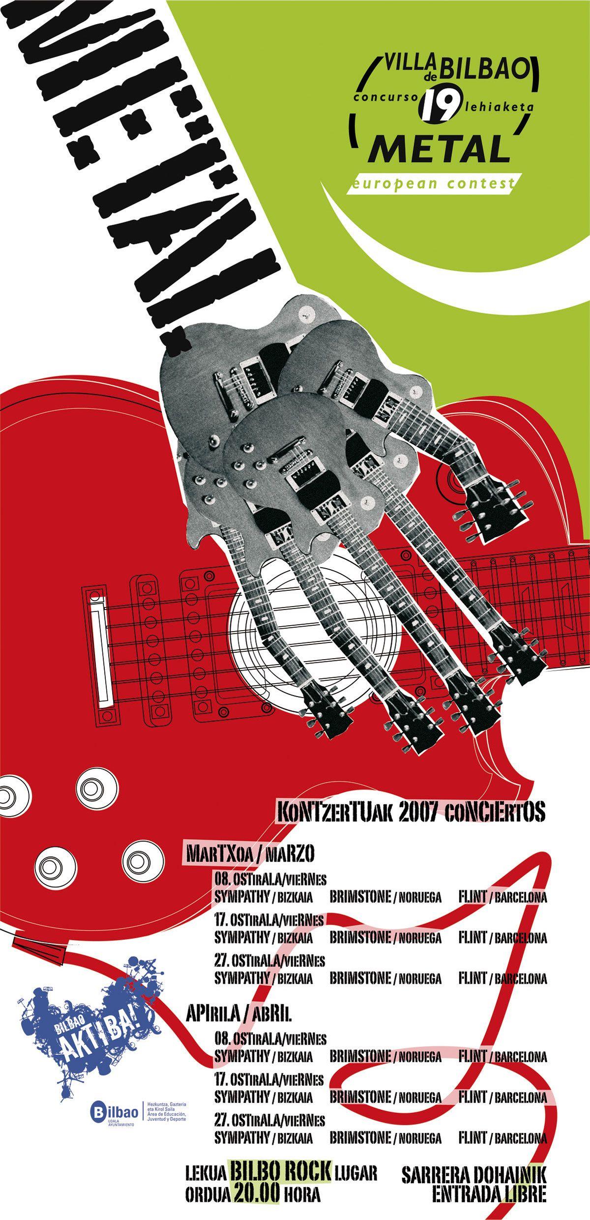 Cartel Villa Bilbao 19ª edición metal