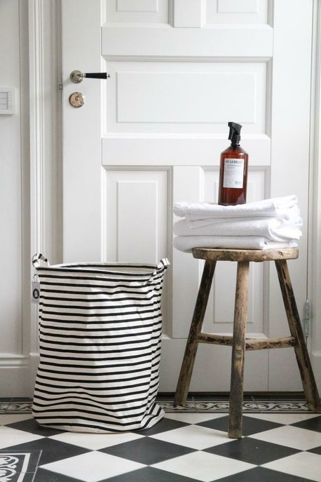 Black U0026 White Stripe Toy / Laundry Basket By The Wood Room  Furniture/Homewares. Bathroom StylingBathroom BlackBathrooms DecorBathroom  ...