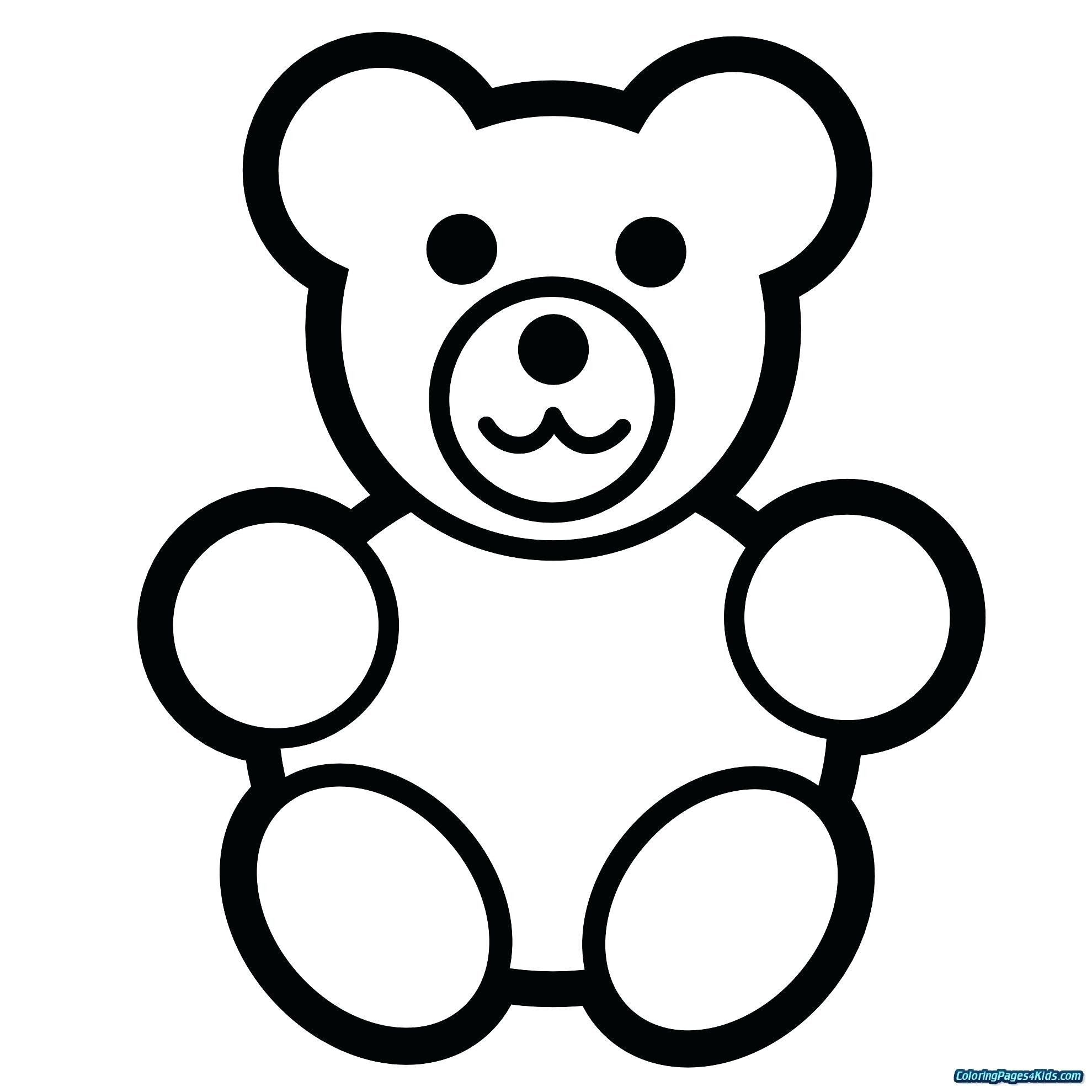 Teddy Bear Coloring Pages Awesome Kindergarten Back to