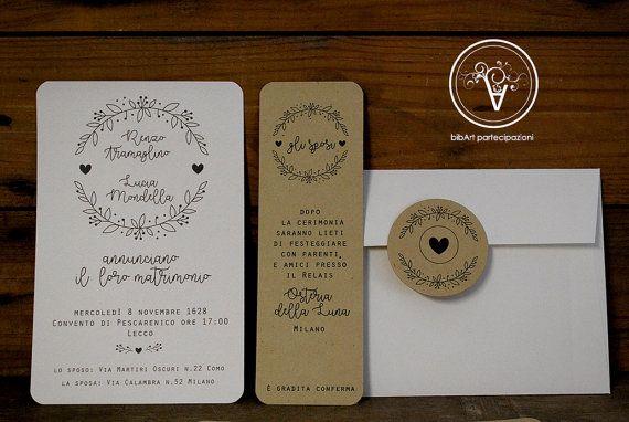 Partecipazioni Matrimonio A 0 50 Centesimi.Modello Bride To Be Partecipazione Completa Stile Country