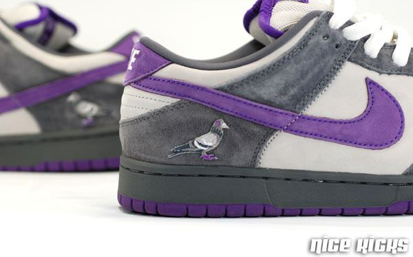 factory authentic afcad 23d37 NIKE SB DUNKS PURPLE PIGEON PATCHES | Just for Kicks | Nike ...