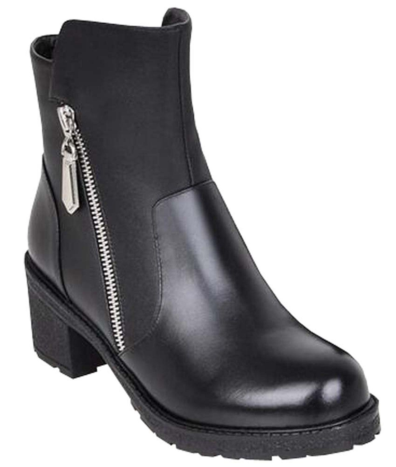 Thick Heels Bilateral Zipper With Leather Bottom Boots Winter You Can Find Out More Details At The Link Of The Image Bayan Ayakkabi Kisa Bot Ayakkabi Bot