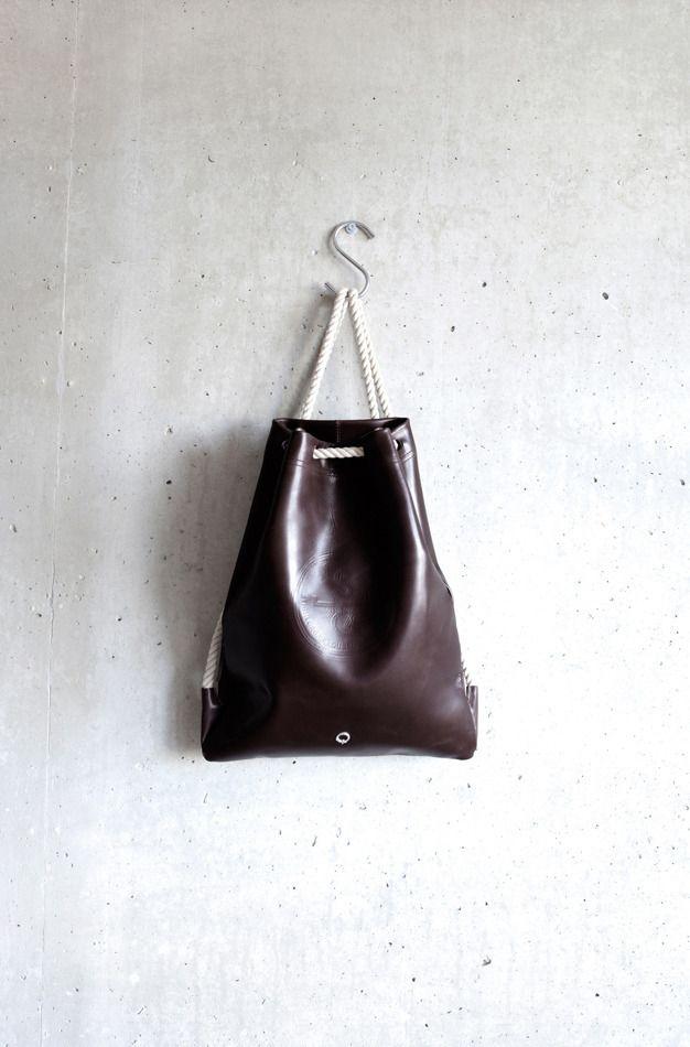 05da2100e0 Leather Drawstring Bag