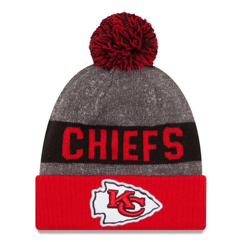 Kansas City Chiefs New Era Youth 2016 Sideline Official Sport Knit Hat -  Heather Gray 510b693094a9