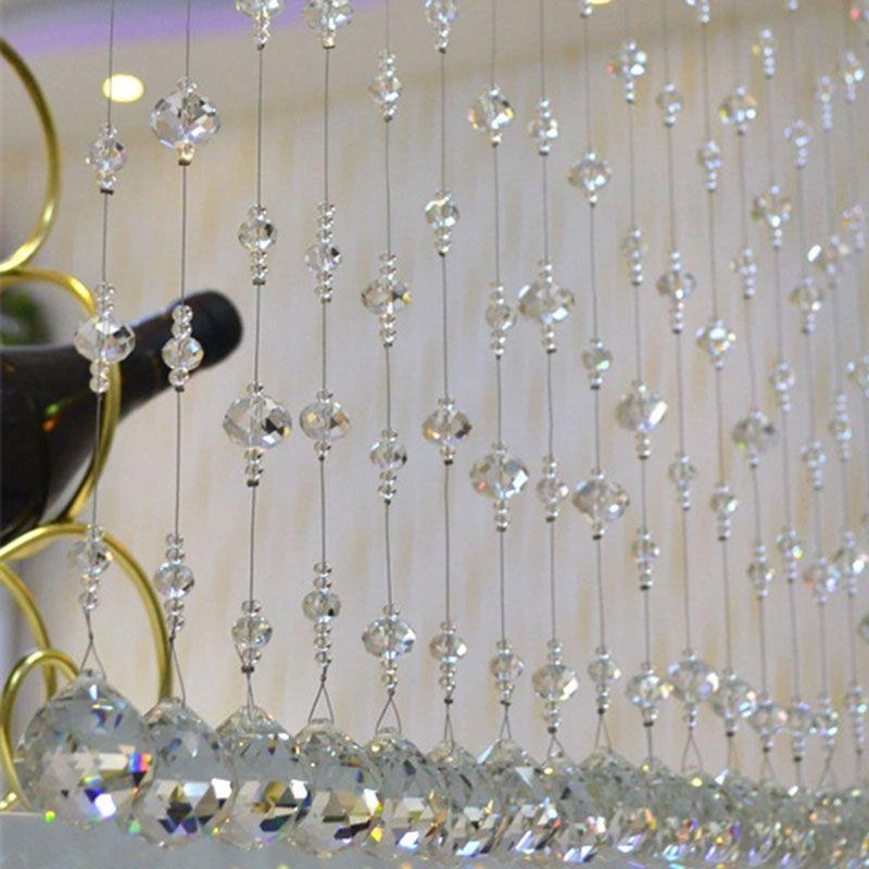 Günstige Moderne Luxus Kristall Perlen Vorhang Moderne Wohnzimmer Vorhang  Kristall Fenstervorhang Hochzeit Decor 1 Mt/