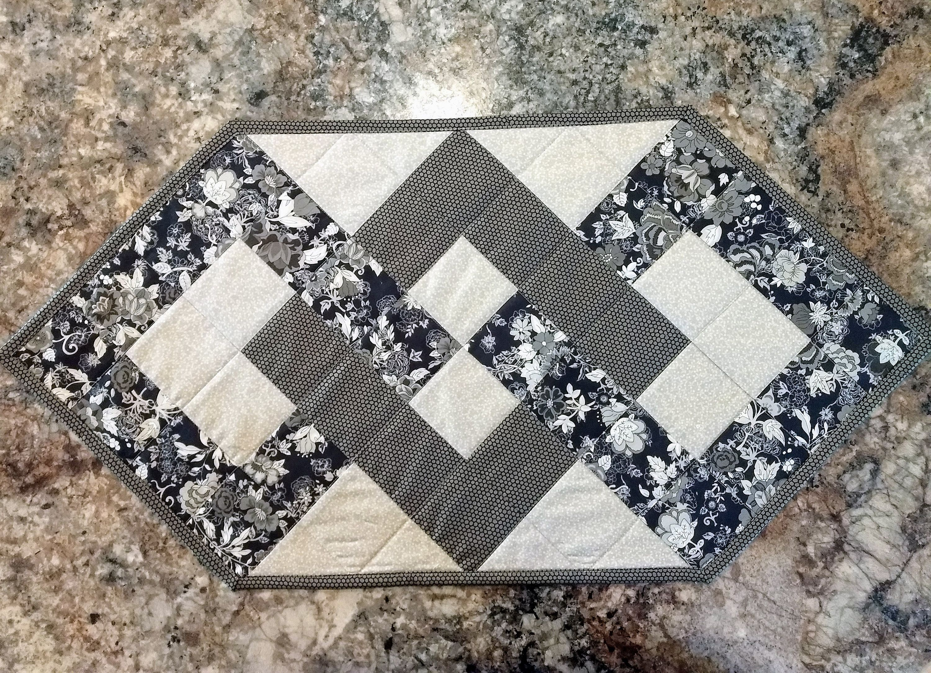 Quilted Table Runner Coffee Table Cloth Etsy Placemats Patterns Quilted Table Runners Quilted Table Runners Patterns