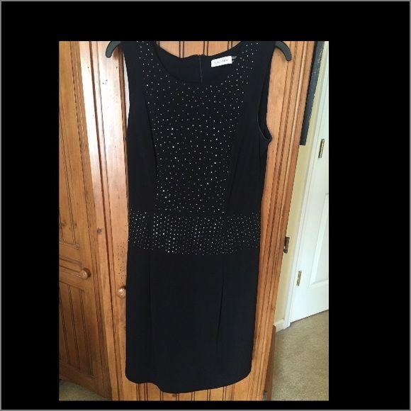 Calvin Klein Little Black Dress Sleeveless beautiful dressy dress sz 12 Calvin Klein Dresses Midi