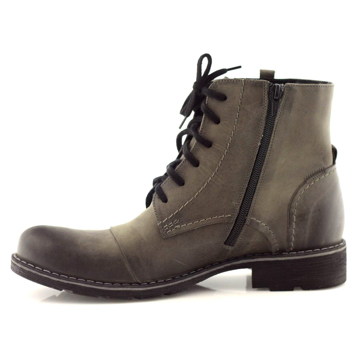 Trzewiki Traperki Zimowe Nikopol 400 Szare Combat Boots Boots Shoes