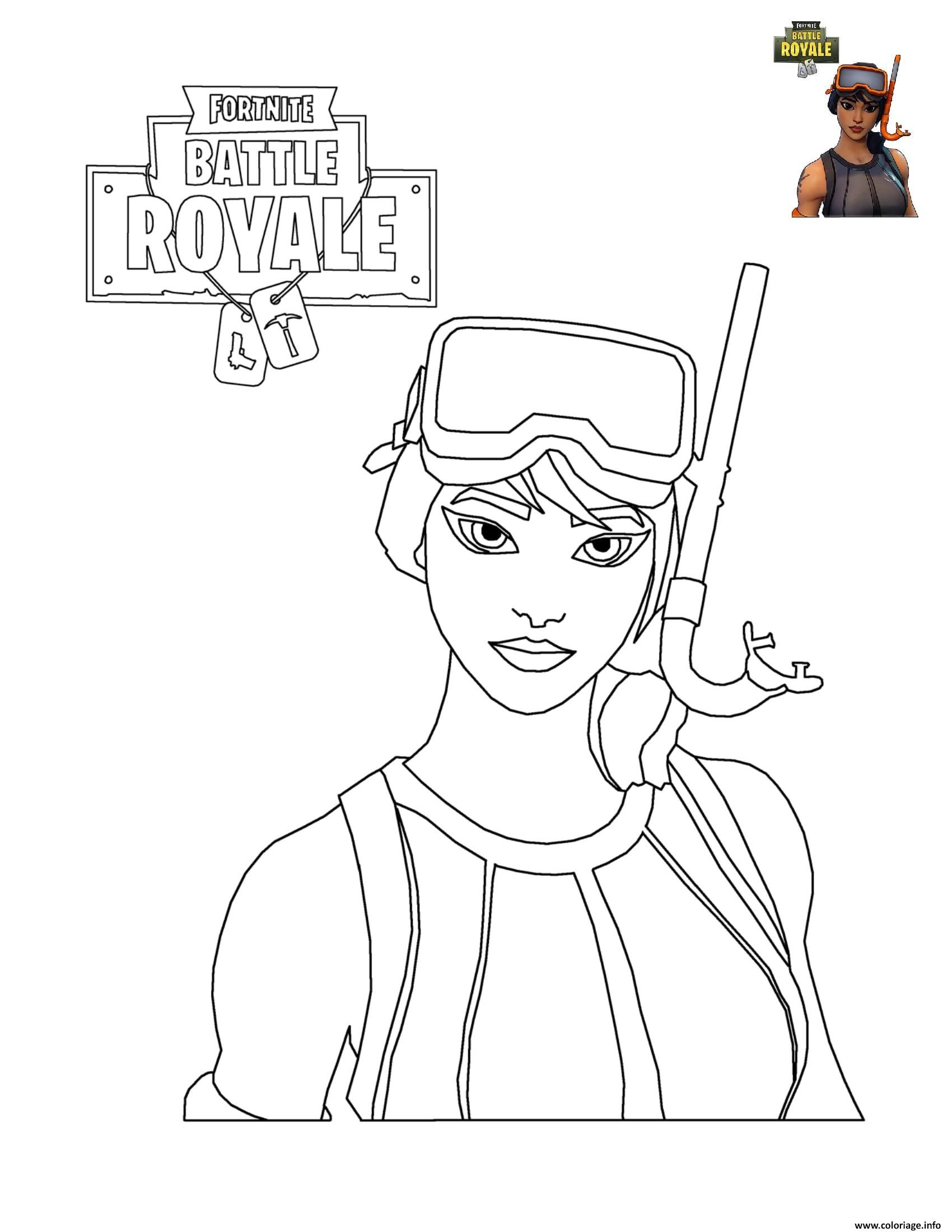 Coloriage Fortnite Battle Royale Personnage 7 à Imprimer Charlie