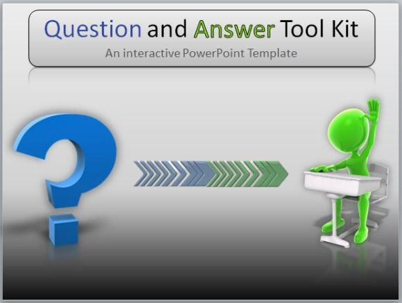 Question And Answer Toolkit Is An Interactive Powerpoint Template