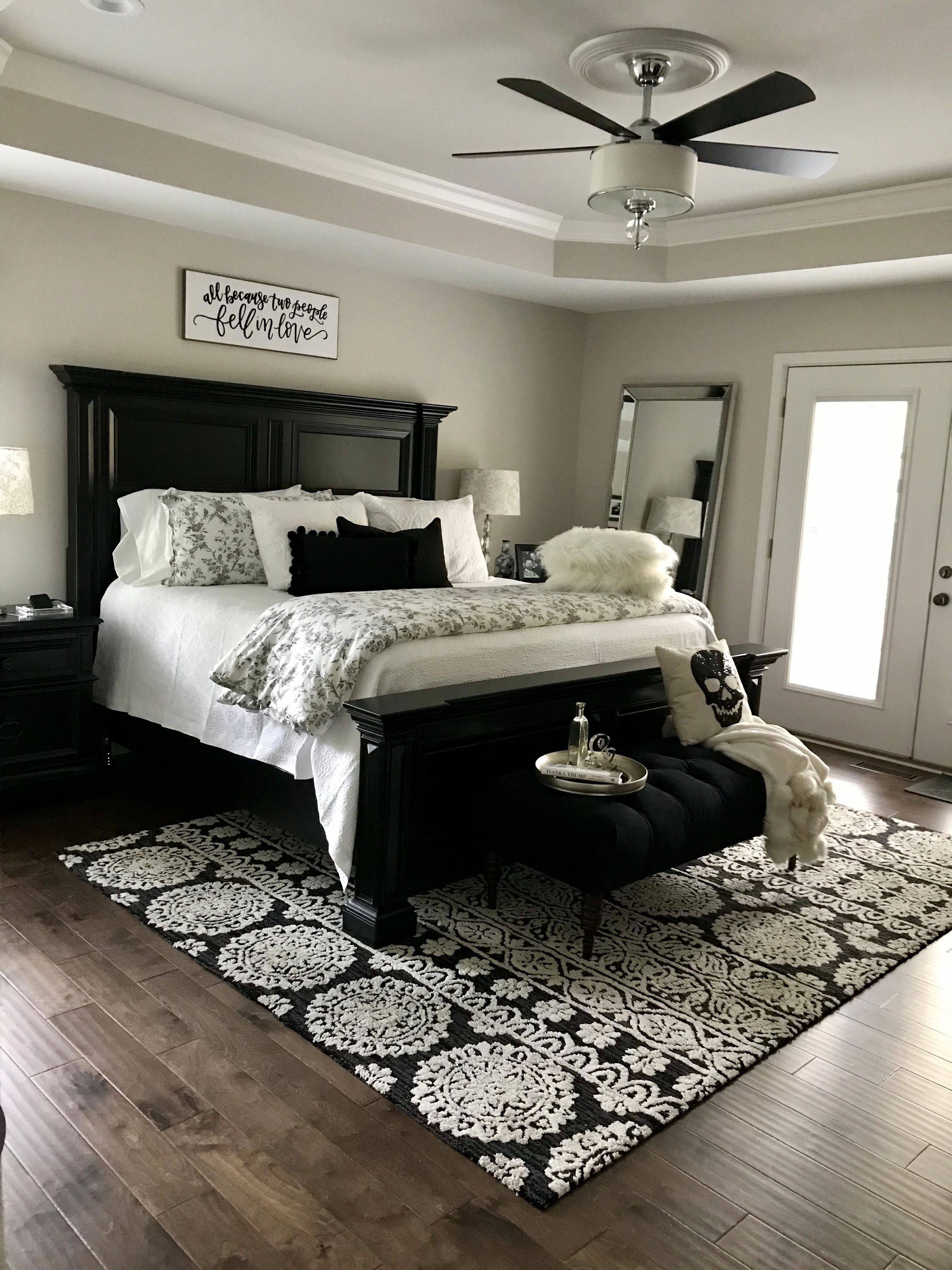 Best Black And White Master Bedroom Design 400 x 300