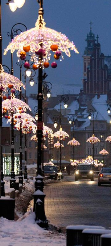 Decoration Lighting Of The Royal Route In Warsaw Poland Christmas Lights Christmas In The City Beautiful