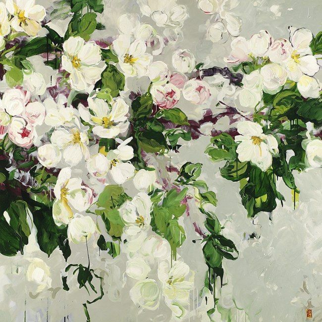 ❀ Blooming Brushwork ❀ - garden and still life flower paintings - Bobbie Burgers   Your Fragrance