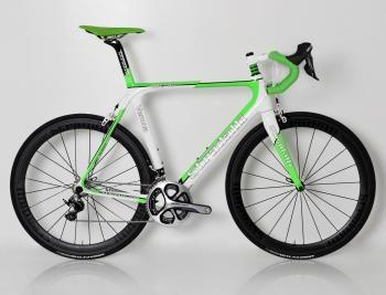 """2013 Verona"" Full Carbon Road Bike. Shimano Dura-Ace 9000. 50mm Clinchers. 50cm. Fluorescent Green"