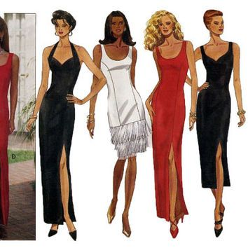 90s Sexy EVENING GOWN PATTERN Cocktail Dress Pattern Party Prom ...