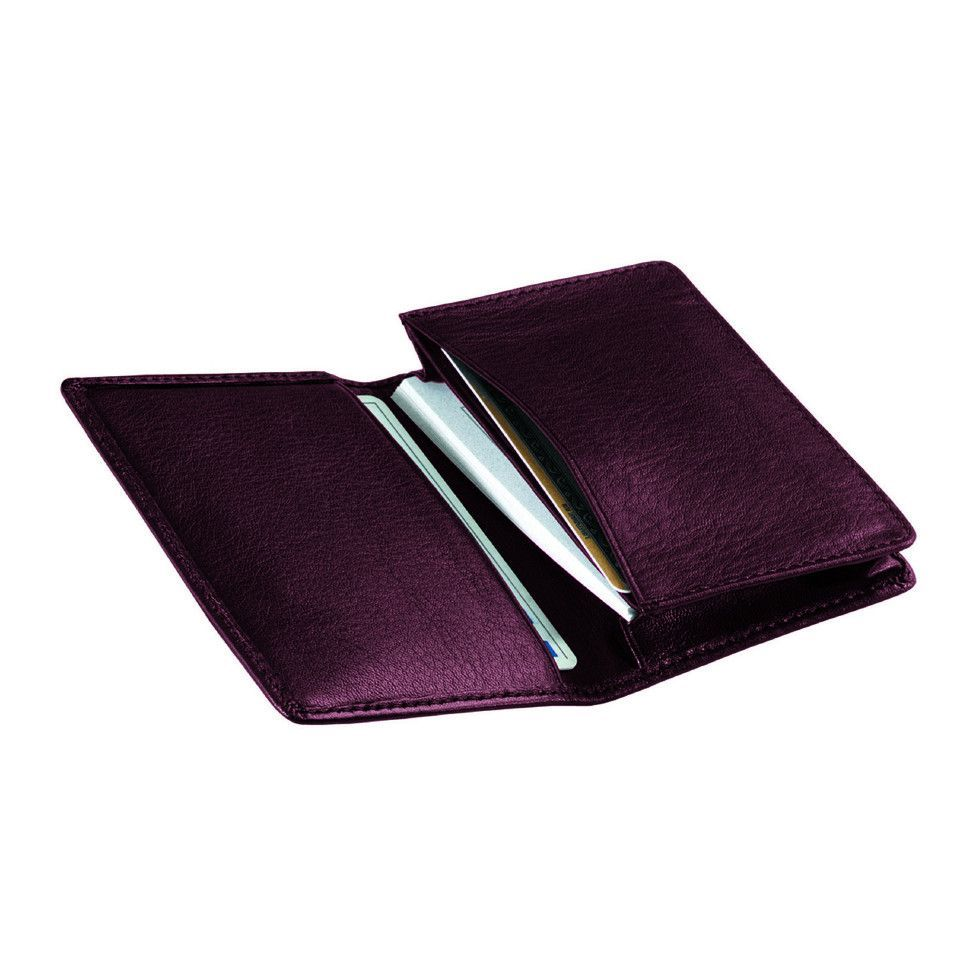 Personalized Deluxe Leather Business Card Case | Business card case ...