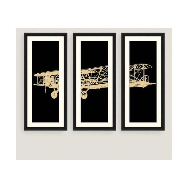Cost Plus World Market Framed Vintage Plane Photo Wall Art Set of... ($150) ❤ liked on Polyvore featuring home, home decor, wall art, black and white framed wall art, black and white wall art, framed wall art, black white wall art and cost plus world market