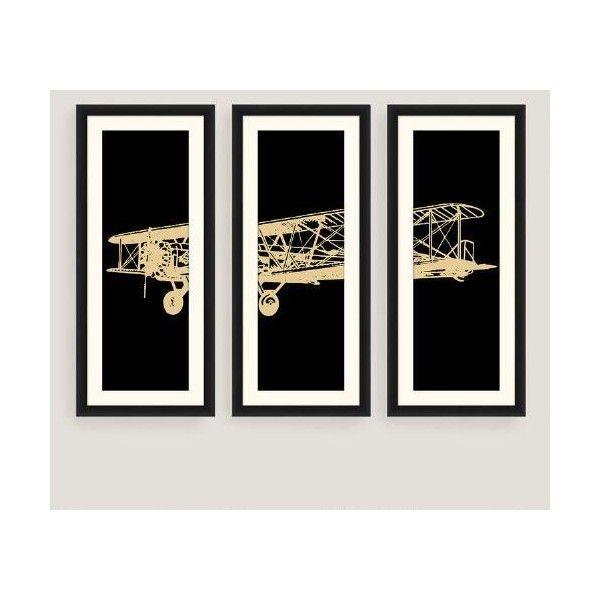 Cost Plus World Market Framed Vintage Plane Photo Wall Art Set of ...