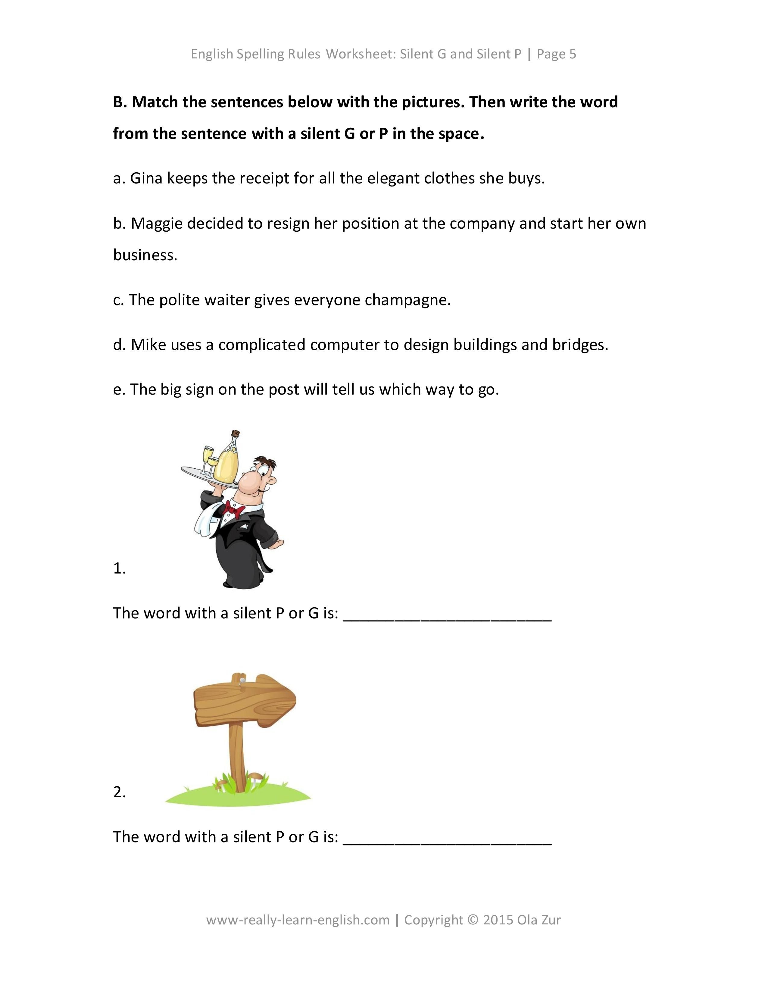 The Complete List Of English Spelling Rules Lesson 6 Silent G And Silent P Rules Examples Worksheet And Answer Key English Spelling Rules Spelling Rules English Spelling