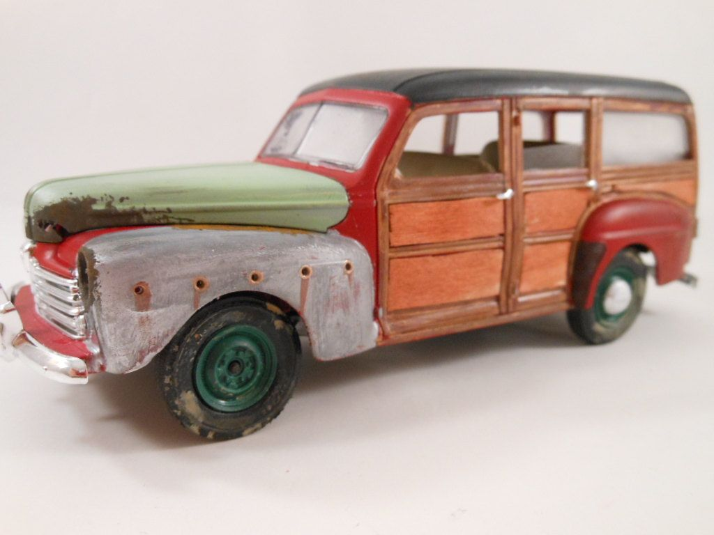 Made to look like junkyard classics. 1940s Ford 1/24 scale model ...