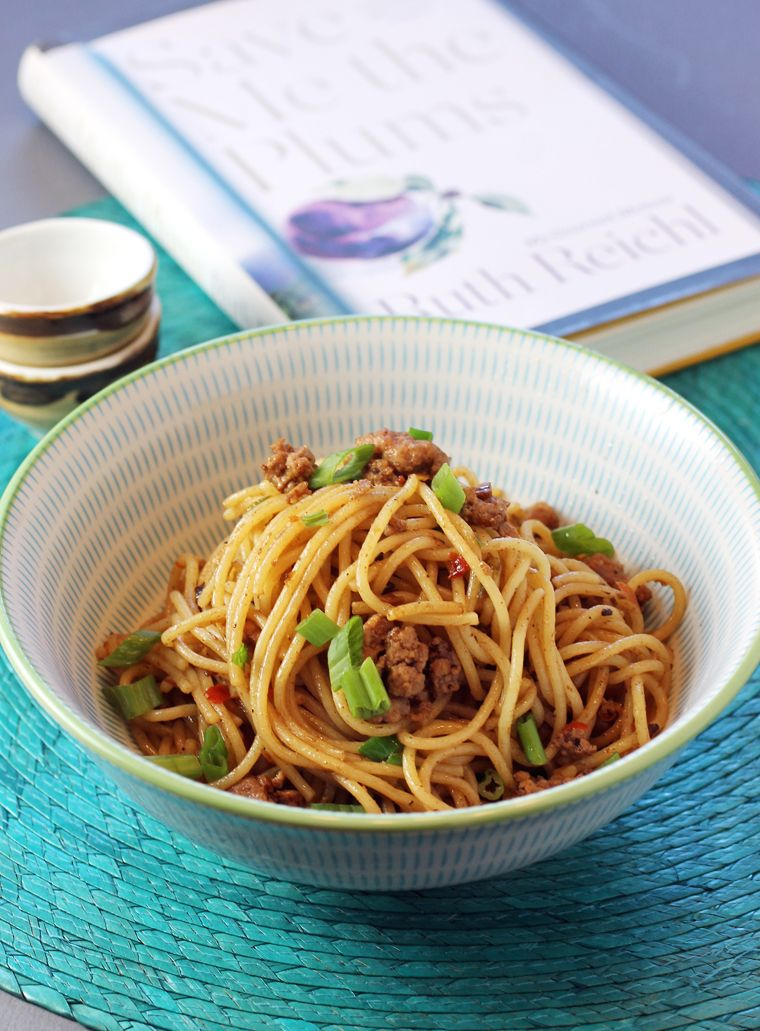 spicy chinese noodles by the one and only ruth reichl. in