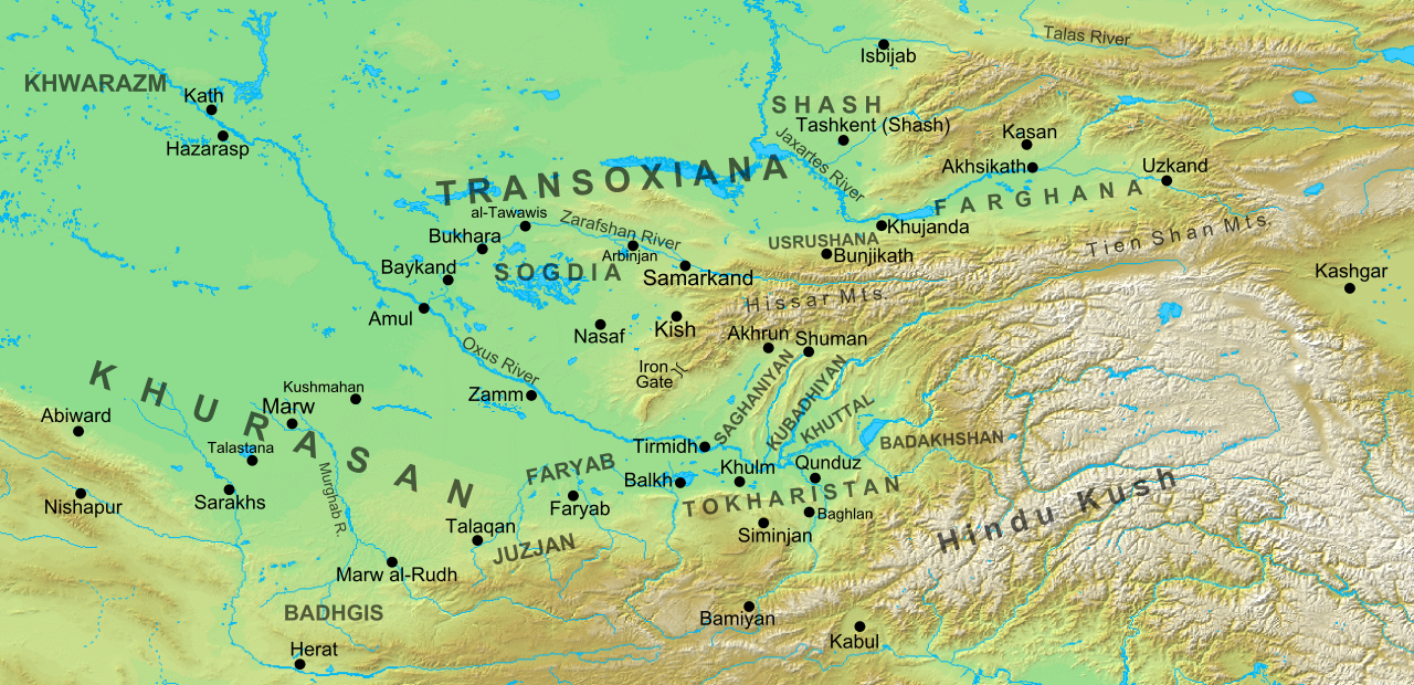 Transoxiana 8th centurysvg  Maps  Pinterest