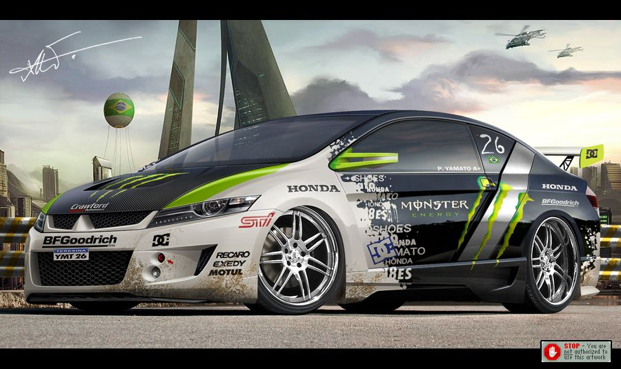 Monster Car Sponsored By K N Racing Drift Pinterest Bilar