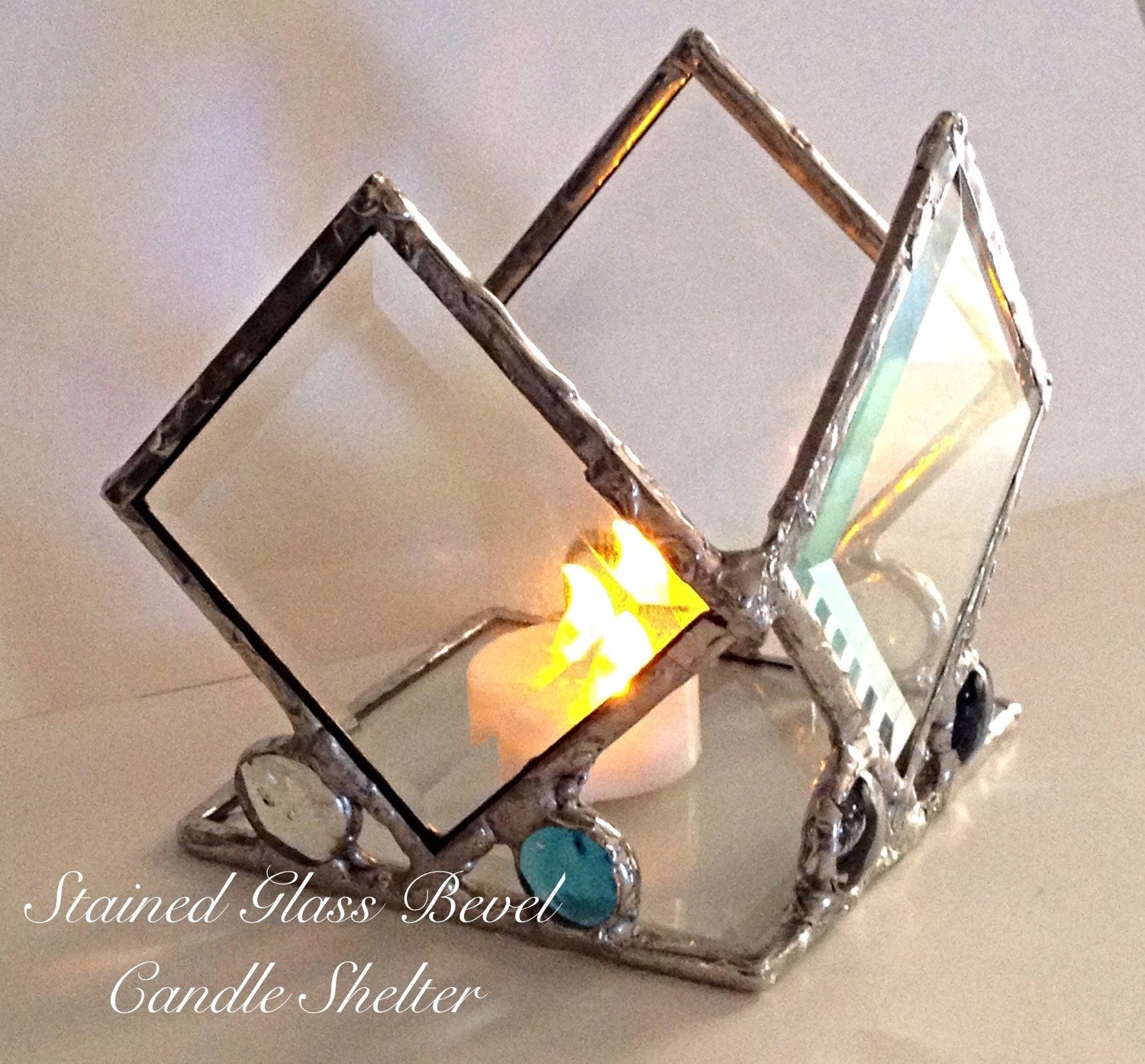 A personal favorite from my Etsy shop https://www.etsy.com/listing/242625433/diamond-clear-beveled-stained-glass