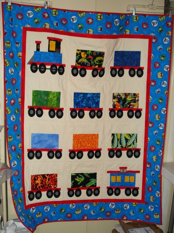 Cars And Trains Quilt Patterns Name Attachment 187465
