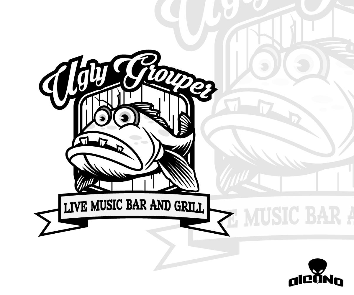 Restaurant Logo Design Live Music Bar Cards