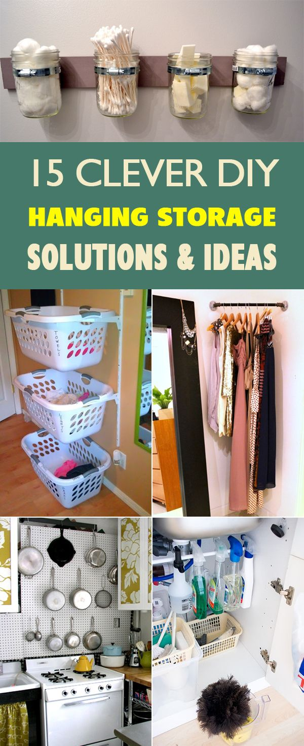15 Clever Diy Hanging Storage Solutions And Ideas Homemade